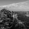 beautiful aerial landscape views from crowders mountain near gastonia north carolina