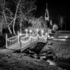 tiny chapel with lighting at night