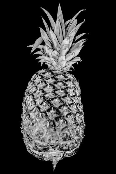 pineapple isolated on black