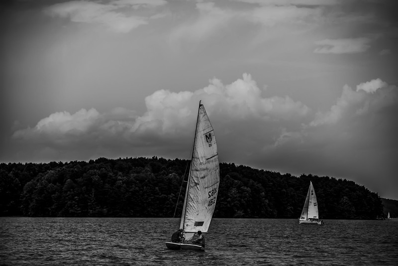 sail boat on large lake