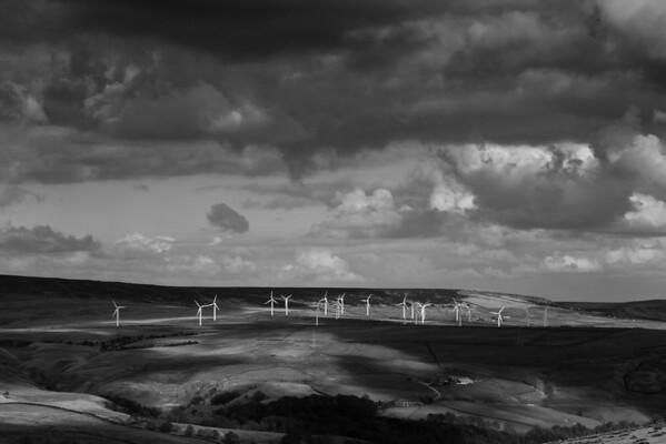 Wind Farm taken from near the 'Singing Tree' Panopticon near Burnley.