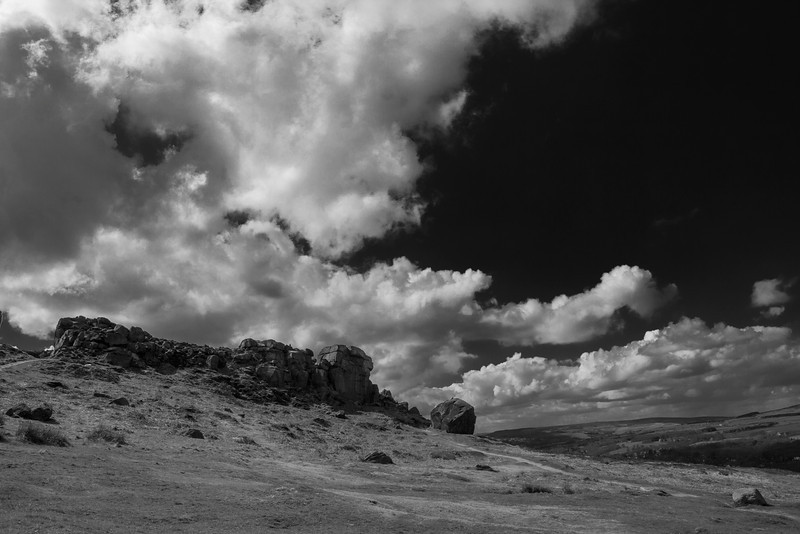 Cow & Calf Rocks near Ilkley, West Yorkshire.
