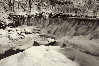 A very frozen Hoghton Weir, Hoghton Bottoms, Lancashire.