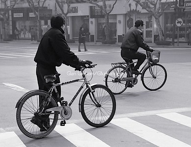 Cycling in Shanghai, China