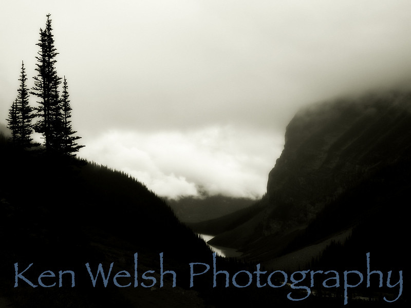 """""""The Clouds Below""""<br /> <br /> Sacred Places of Earth:  Trail to Tea House and Plane of Six Glaciers  <br /> © Copyright Ken Welsh"""