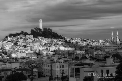 Coit Tower and Hills, San Francisco