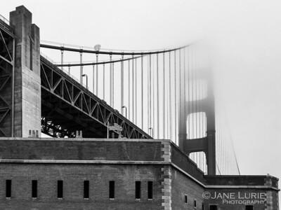 Flag and Fog, San Francisco