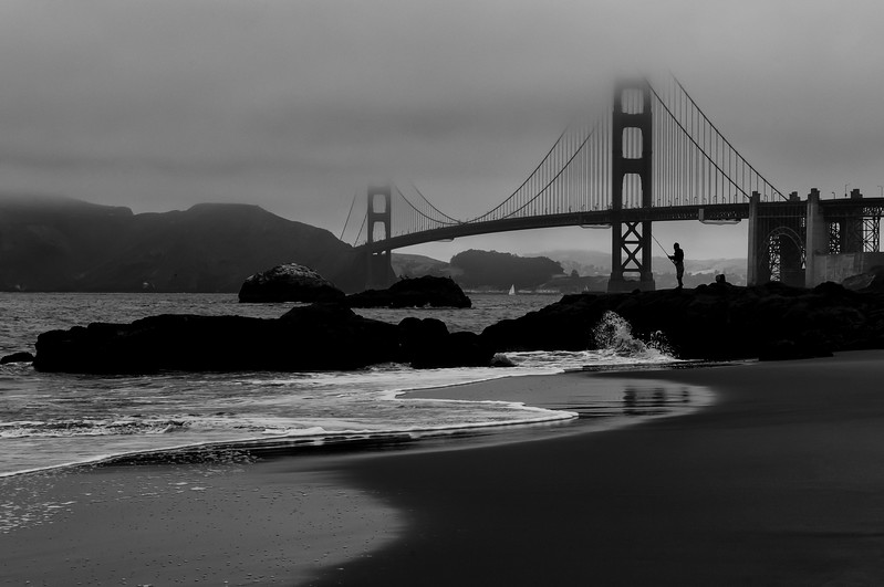 Morning Catch, Baker Beach