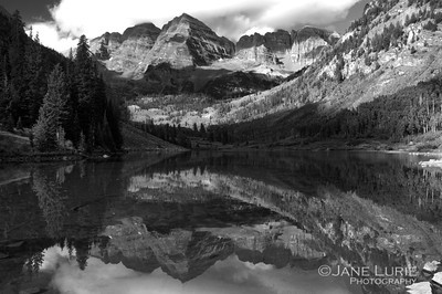 Maroon Bells, Black and White