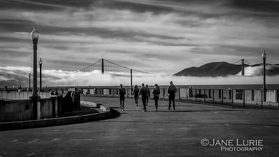Pier, Fog and Golden Gate