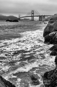 Golden Gate and Surf, Baker Beach, SF