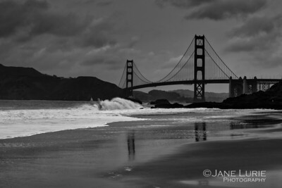 Breaking Wave and Golden Gate