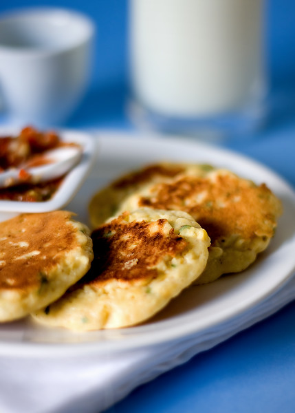 Savory breakfast - Corn pancakes