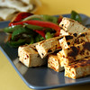 Tofu Fajitas - Chipotle flavored tofu, served with sauteed peppers and tortilla