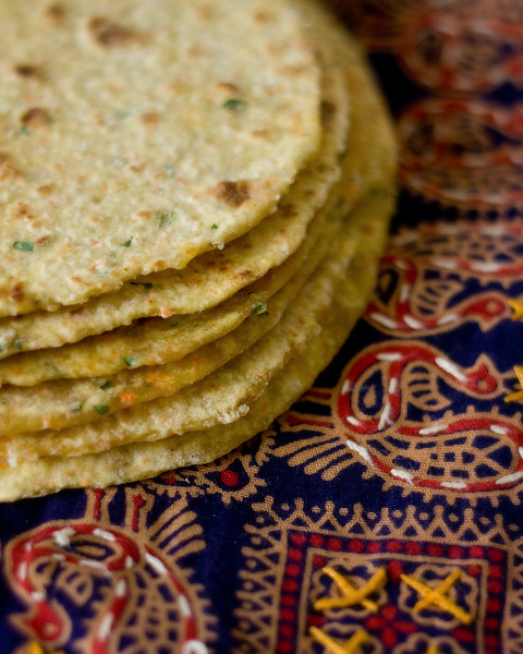 Indian flatbreads made with quinoa and carrots