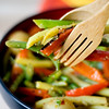 Warm summer vegetable with lemon mustard vinaigrette