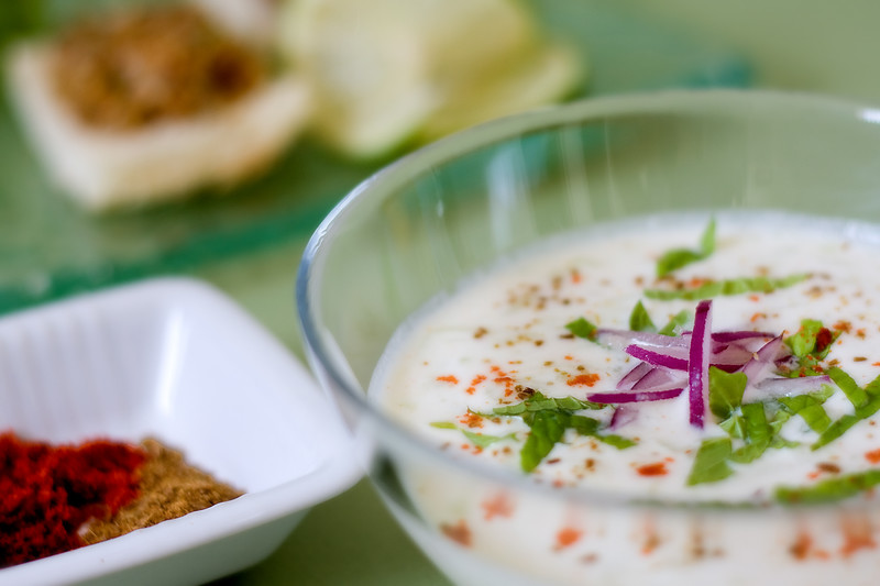 Cold cucumber almond soup