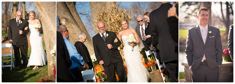 Katherine & Ryan's fall wedding in Pecatonica, near Rockford, IL