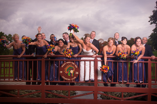 Chicago Rockford Illinois Fall Autumn Outdoor Wedding Photography in Park