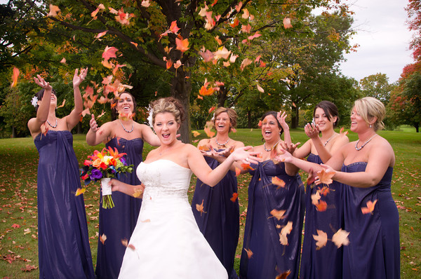 Rockford Chicago Illinois Wisconsin Madison Fall Autumn Outdoor Wedding Photography in Park