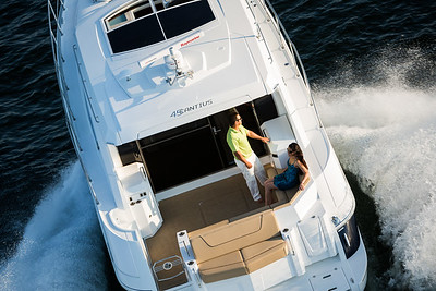 Cruisers Yachts 45 Cantius overhead shot.