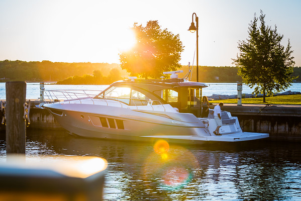 Cruisers 45 Cantius Black Diamond docked sunset