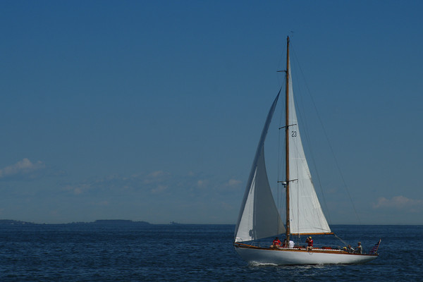 Sailing on a Clear Day<br /> Oqunquit, Maine