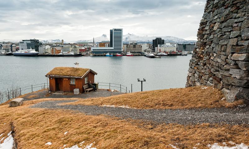 Bodø havn sett fra Skansen