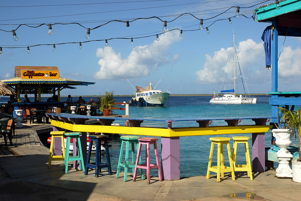 Karel's Bar on the shore of Bonaire