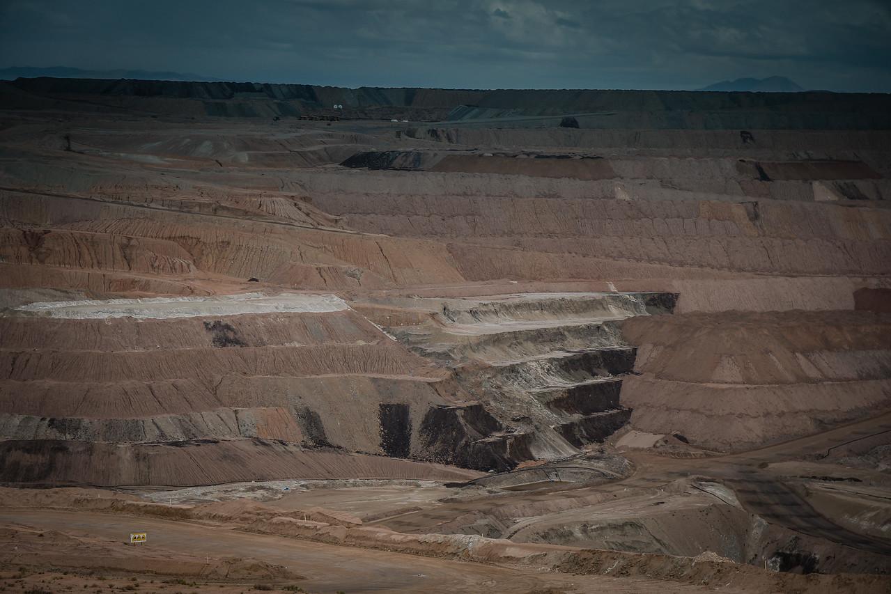 The open-pit borax mine
