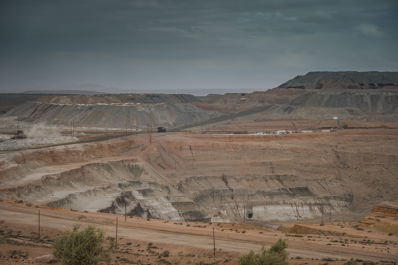Open-Pit Mine with Big Haul truck