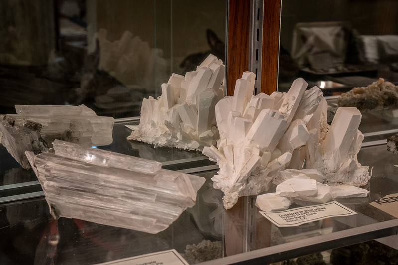 Borate minerals on display at the Twenty Mule Team Museum