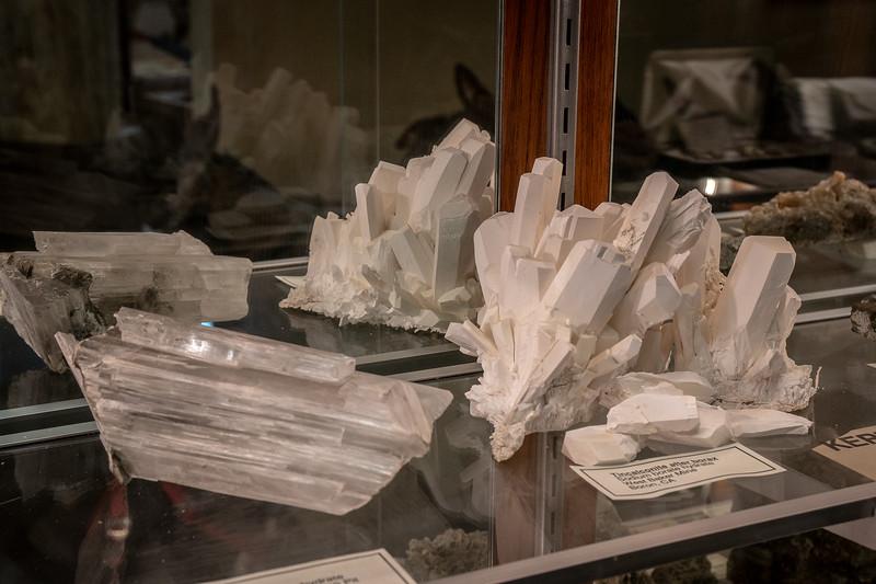 Borate minerals on display at the Twenty Mule Team Museum