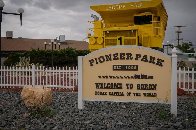 Big haul truck welcomes visitors to Boron!
