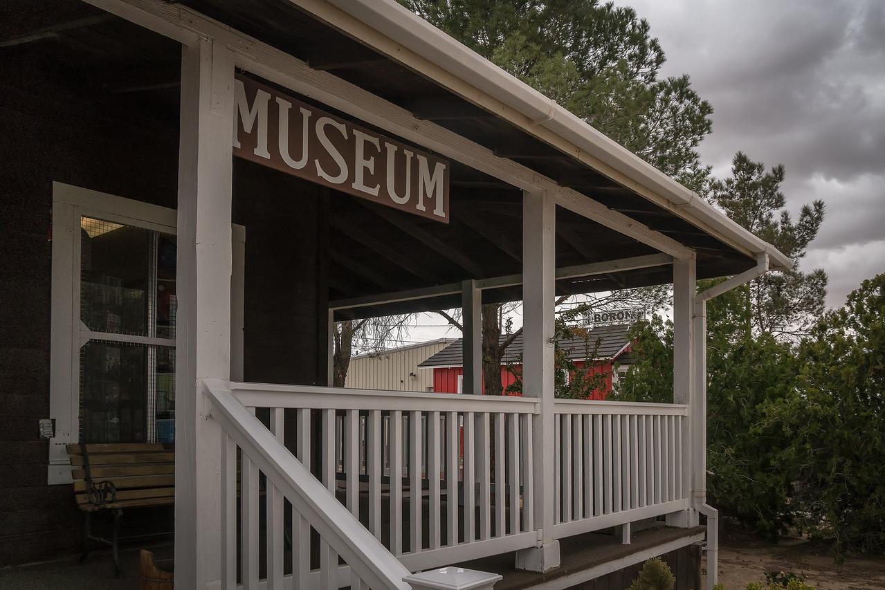 Exterior view of Twenty Mule Team Museum