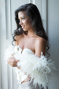 Hollie - Bridal Boudoir for an editorial in To Have & To Hold Scotland.