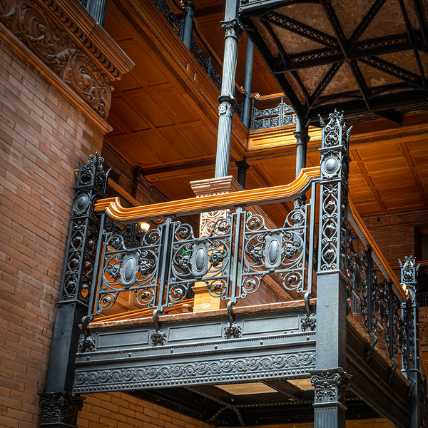 Wrought iron work in the Bradbury Building