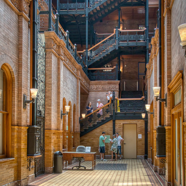 The lobby of the Bradbury Building