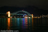 Sydney Harbour Bridge by night