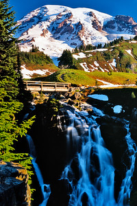 Myrtle Falls at Mount Rainier National Park in early summer 2010