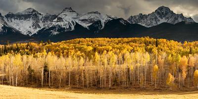 Mount Sneffels, as seen from along County Road 5 near Ridgway, Colorado