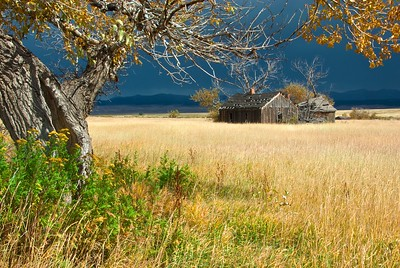 An old house south of Westcliffe, Colorado on the road towards Music Pass.    Had to wait for the thunderstorm to pass before getting this shot, and got some rather dramatic light as a result.