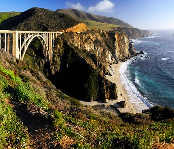 The oft-photographed Bixby Creek Bridge, Big Sur, California