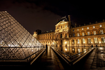 The Louvre Courtyard, Midnight Paris. The Louvre. Midnight.  We had the best adventure EVER that day - that will forever define our first visit to paris.   It included walking 8 miles through the streets of Paris at night, experiencing the wonder of the Louvre at midnight - with the place to ourselves and magic all around, missing the last subway at 1am, consoling ourselves with wine, cheese and the most delicious chocolate ever made at 2am on the Champs Elysees.  The stuff dreams are made of, baby.    ©Karen Hutton - Creative Commons (CC BY-NC 3.0)