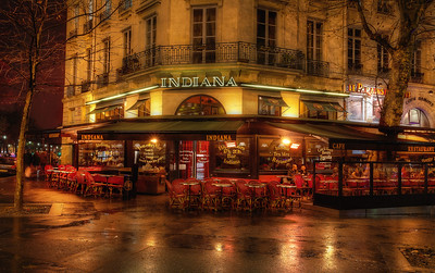 The Indian CafeParis, France  Whilst in Paris, we walked by this restaurant a couple of times. I'll admit it...  I giggled each time. I mean really... I wanted to experience FRENCH food. Many croissants. Chocolate by the barrel. I don't like Texmex much at home... why would I travel halfway around the world for it?? The first part of our Parisienne adventure was swoonworthy, and did not include Parisienne TexMex.  Until chance, flight cancellations and a few more unexpected days in Paris brought us to its doorstep. Hungry. End of our rope. Ready to go Pariesienne tex-mex. And it was... amazing. Simple food, beautifully prepared. Completely altered all preconceived opinions. We ended up LOVING the Indiana Cafe, oh yes we did!  Let that be a lesson to me!  ©Karen Hutton - Creative Commons (CC BY-NC 3.0)