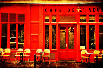Cafe De L'IndustrieParis, France I love Paris... Why oh why do I love Paris? Because cafes live there.  And red... And croissants... And chocolate... And romance, beauty and wicked cool history.  To name but a few reasons.     ©Karen Hutton - Creative Commons (CC BY-NC 3.0)