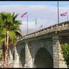 London Bridge with Flags