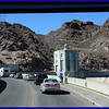 The Road across Boulder Dam on the border of Arizona and Nevada as seen through our Windshield