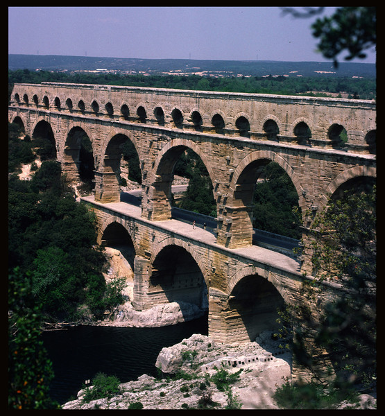 Roman Aquaduct (for scale, notice the people in the middle of the photo)