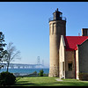 Old Mackinac Point Lighthouse and Mackinaw Bridge